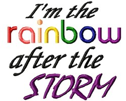 Rainbow After Storm embroidery design
