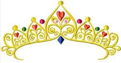 Jeweled Tiara embroidery design