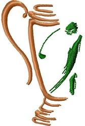 Golf Award embroidery design