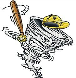 Tornado Baseball embroidery design