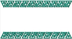 Border Triangles embroidery design