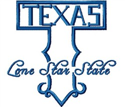 Texas T Logo embroidery design