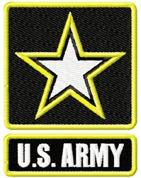 Army Star embroidery design