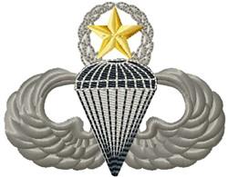 Army Master Parachutist embroidery design