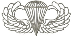 Basic Paratrooper Outline embroidery design