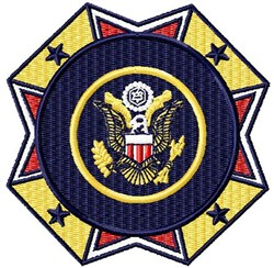 Veteran Badge embroidery design