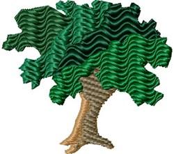 Wavy Tree embroidery design