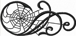 Web in Scroll embroidery design