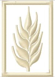 Wheat Stalk Framed embroidery design