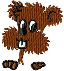 Willy Woodchuck embroidery design