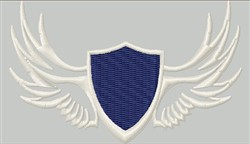 Blank Wing Shield embroidery design