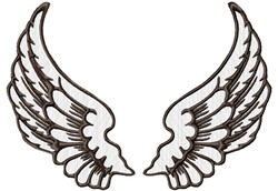 Large Pair Wings embroidery design
