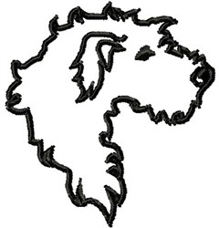 Wolfhound Outline embroidery design