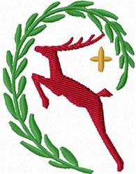 Reindeer Crest embroidery design