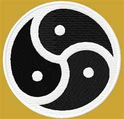 Yin Yang Coin embroidery design