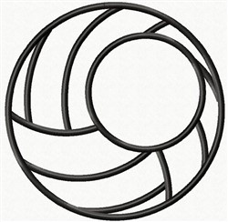 Applique Volley Ball embroidery design