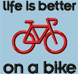 Bike Life embroidery design