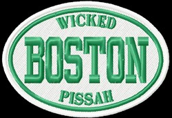 Boston Wicked embroidery design