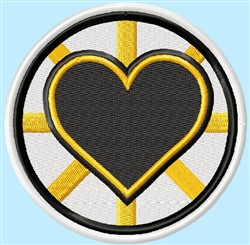 Bruins Heart Badge embroidery design