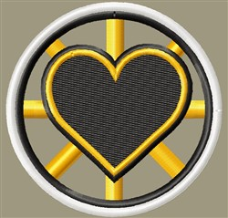 Bruins Heart Open embroidery design