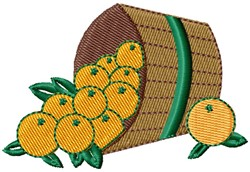 Bushel Oranges embroidery design