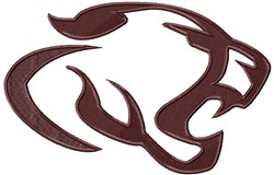 Cougar Head embroidery design