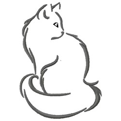 Domestic Longhair Cat embroidery design