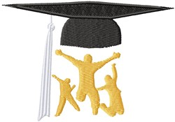 Grads with Cap embroidery design