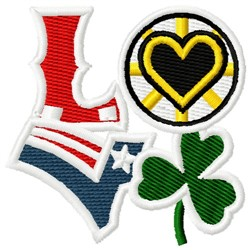 Love Boston Sports embroidery design
