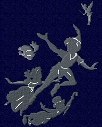 Peter Pan Silhouette embroidery design