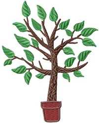 Potted Tree embroidery design