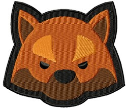 Red Fox Face embroidery design