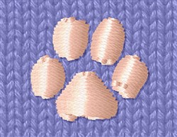 Small Paw Print embroidery design