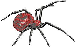 Swirly Spider embroidery design