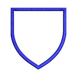 Applique Shield Shape embroidery design