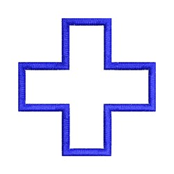 Applique Cross embroidery design