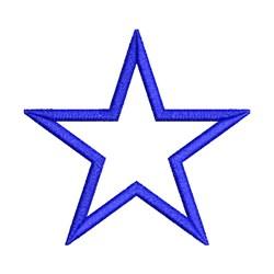 Applique Star embroidery design