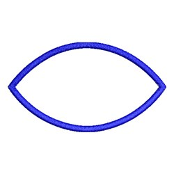 Applique Eye Shape embroidery design