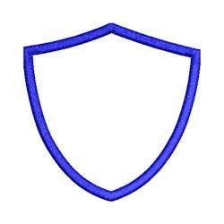 Shield Shape Applique embroidery design