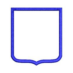 Applique Shield embroidery design