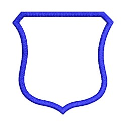 Applique Shield Outline embroidery design