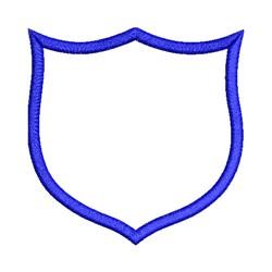 Shield Applique embroidery design