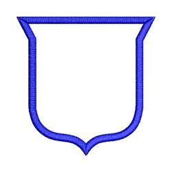Shield Outline Applique embroidery design