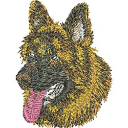 German Shepherd Head embroidery design