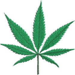 Cannabis Leaf embroidery design