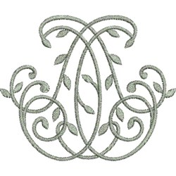 Monogram Leaves embroidery design