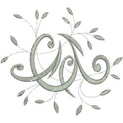Monogram C Swirl embroidery design
