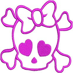 Girl Skeleton embroidery design