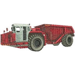 Mining Truck embroidery design