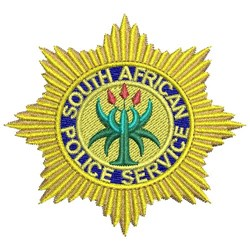 South African Police embroidery design